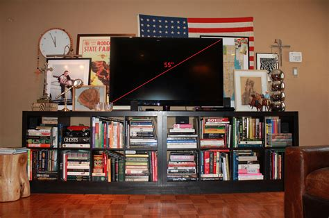 Black Bookcase 2 Shelf 55 Inch Tv The Cavender Diary