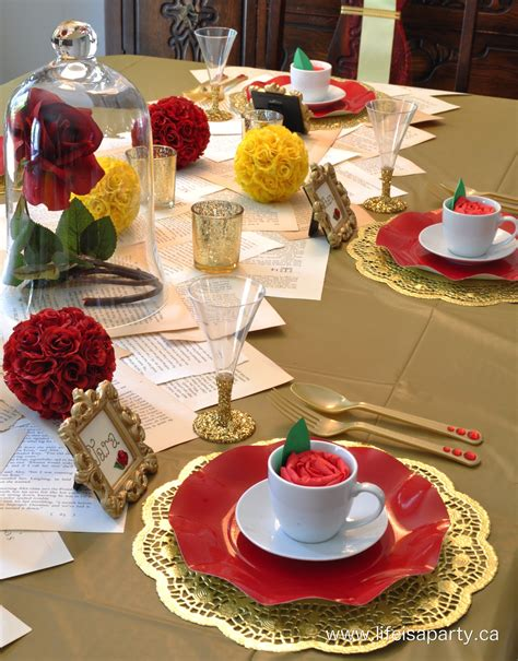 beauty and the beast table decorations beauty and the beast party part i quot the decorations and