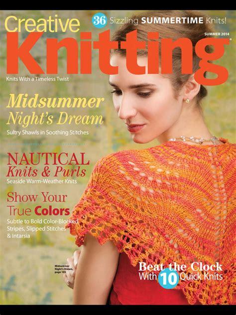 knitting magazine subscriptions creative knitting magazine subscription discount renewal