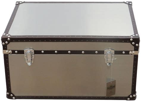 stainless steel vintage steamer trunk coffee table chest