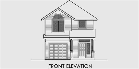 front view house plans home plan with elevation view