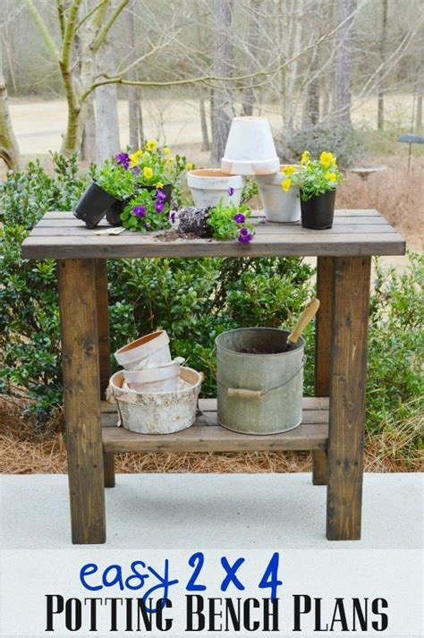 build your own potting bench potting bench plans refresh restyle