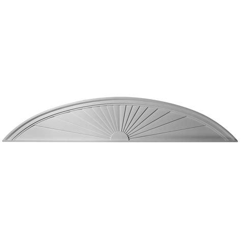 Ekena millwork ped72x14x02sb half round sunburst pediment