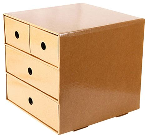 Cardboard Drawer Storage by Cardboard Keeper The Desktop Drawers Solid Modern