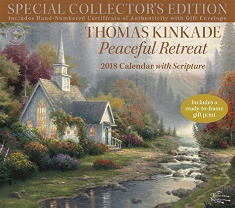 1449482910 thomas kinkade peaceful retreat with thomas kinkade special collector s edition with scripture