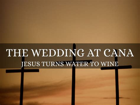 Wedding At Cana Deeper Meaning by Water To Wine By Cole Firth