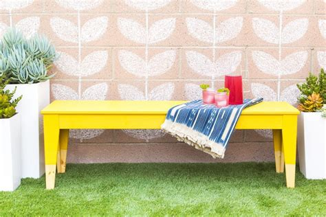 colorful diy ikea sigurd bench hack shelterness 15 easy to make diy benches for your outdoor spaces