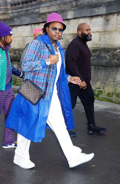 rapper gunna attends  louis vuitton menswear fall