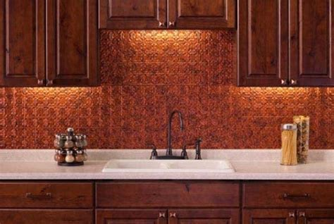 copper kitchen backsplash 10 copper backsplash ideas that add glitter and glam to your kitchen homedecorxp