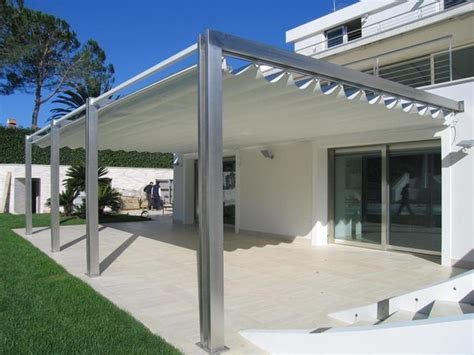 outdoor awnings and canopies pergotenda patio awnings with retractable roofs by