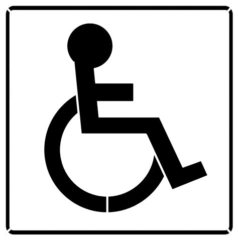 handicapped wheelchair sign stencil sp stencils