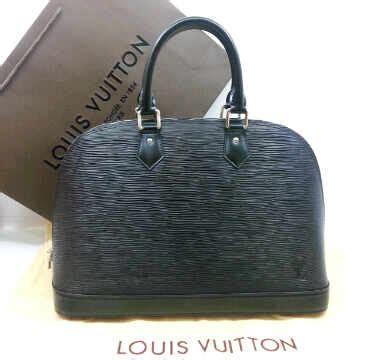 Tas Lv Louis Vuitton Alma Kw Mirror Ori Leather m5289nnq black silver hardware 32x12x22 louis vuitton alma ephi leather kwalitas premium