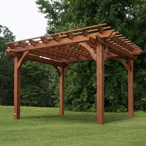 10 X 12 Wood Gazebo Pergola Gazebo Canopy 10x12 Outdoor Garden Patio Backyard