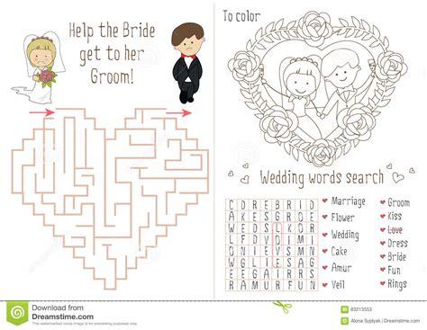 Livre D Activit 233 De Mariage Pour Des Enfants Le Coeur De