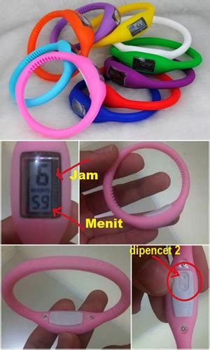 Jam Gelang Ion Silicon jam gelang silicon trendy rp 20 000