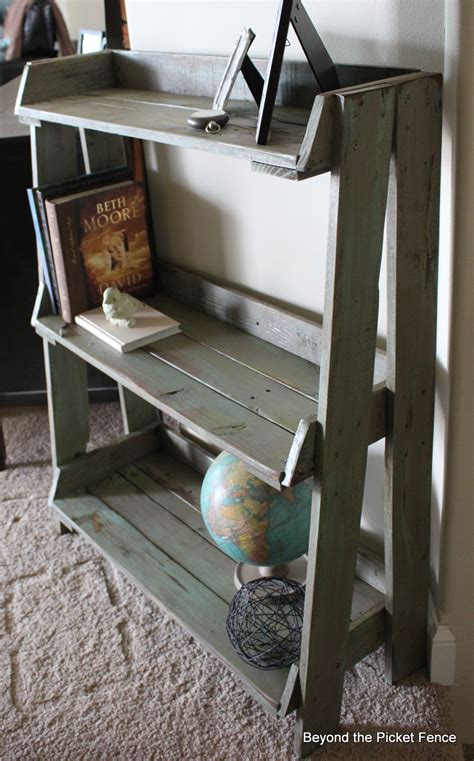 beyond the picket fence pallet bookshelf