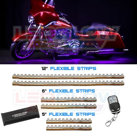 Lu Led Corong Motor Ledglow 6pc Purple Led Motorcycle Lights Kit 114 Leds Lu Mc Pu 6pc Ebay