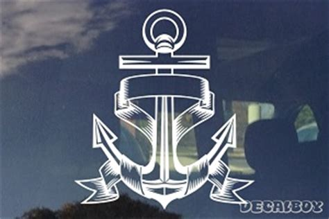 boat anchor decal anchor decals stickers decalboy