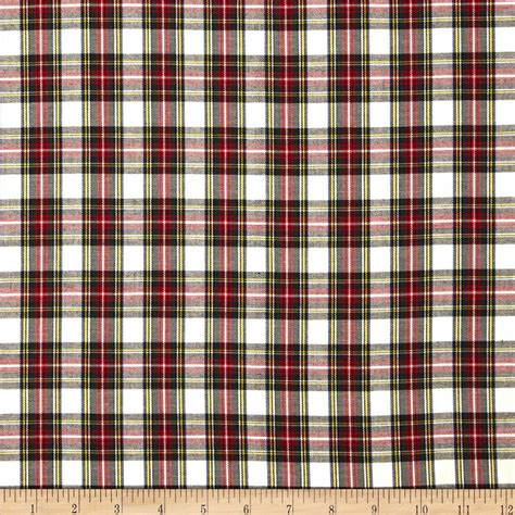 house of fabric kaufman house of wales plaid ivory discount designer fabric fabric com