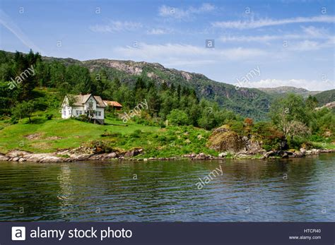 isolated house idyllic isolated house in norway stock photo royalty free image 135505888 alamy