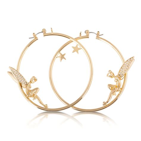 Disney Couture Tinker Bell Bamboo Earrings by Disney Couture Gold Plated Tinkerbell