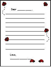 printable ladybug stationery fun learning printables for kids