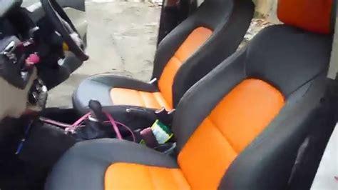 Mbtech Camaro Orange sarung jok mobil all new kia bahan mbtech camaro dua warna