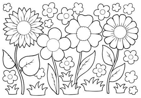 fiori primaverili da colorare fiori primaverili da colorare