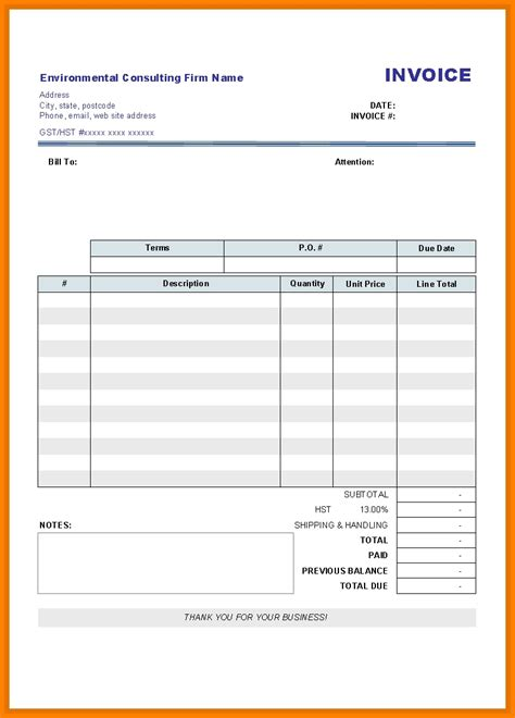 word document invoice template free free blank invoices hardhost info