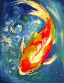 acrylic painting classes kio fish with bubbles acrylic painting lessons for