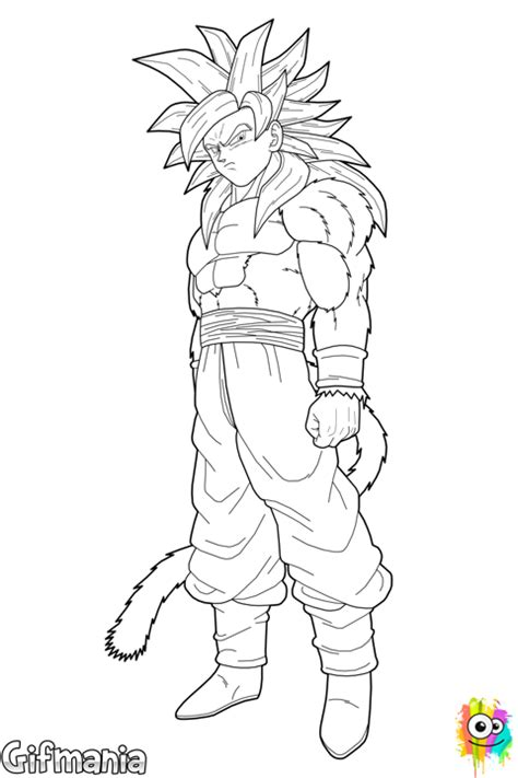 coloring pages of goku super saiyan 4 goku super saiyan 4 coloring page