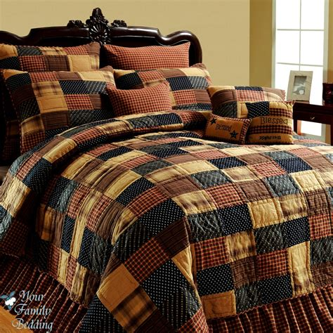 Patchwork Quilt Set - quilt sets best of american brown cal king