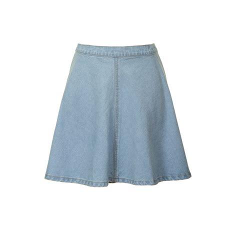 glamorous denim skater skirt blue denim glamorous from