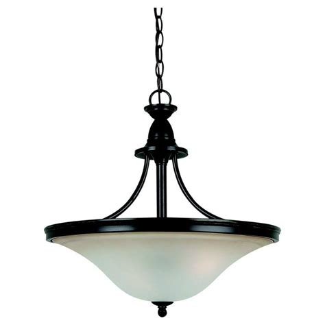 Seagull Lighting Pendant Sea Gull Lighting Gladstone 3 Light Heirloom Bronze Led Pendant 65851 782 The Home Depot