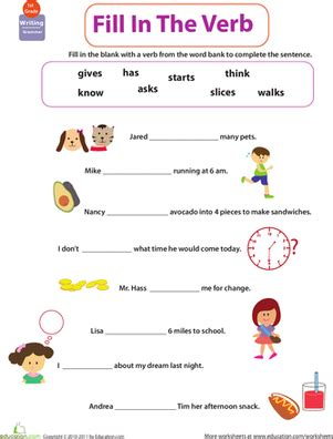 printable worksheets to be verb get into grammar fill in the verb worksheet education com