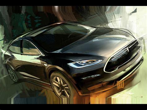 Tesla Model X Sketches by 2012 Tesla Model X Sketch 2 1920x1440 Wallpaper