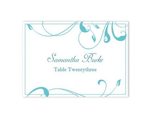 Place Setting Name Cards Free Template by Place Cards Wedding Place Card Template Diy Editable