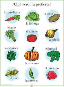 spanish vegetables poster italian french and spanish