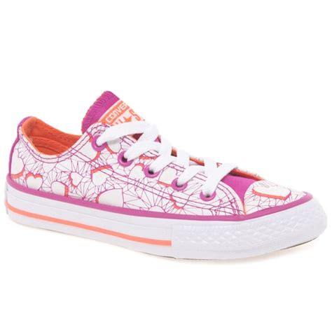 converse all oxford hearts printed trainers charles