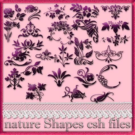 pattern photoshop natura natural style floral pattern custom shapes nisanboard