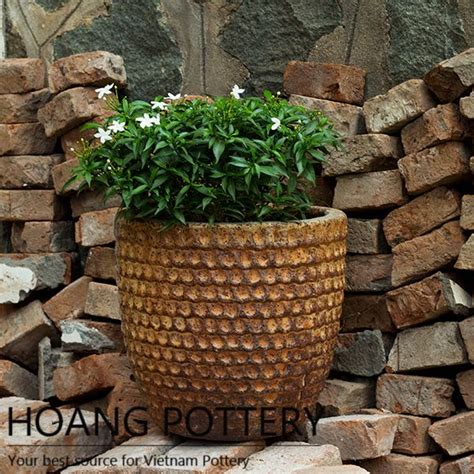 outdoor decor rustic flower pot outdoor decor hphp009 hoang pottery your best source for flower