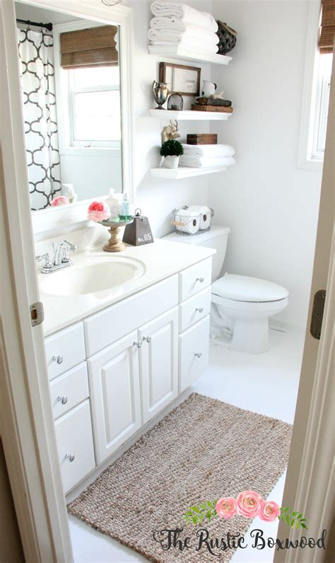 bathroom rug ideas guest bathroom makeover reveal the rustic boxwood blog