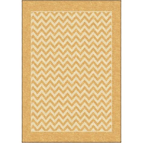 rug 3 ft orian rugs zig zag gold 2 ft 6 in x 3 ft 9 in indoor area rug 281194 the home depot