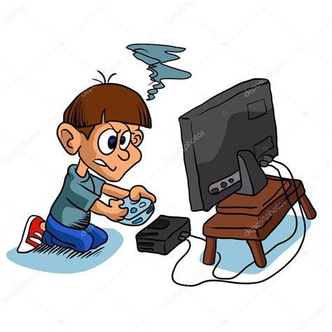 imagenes de niños jugando videojuegos animados ni 241 o jugando videojuegos vector de stock 169 milesthone