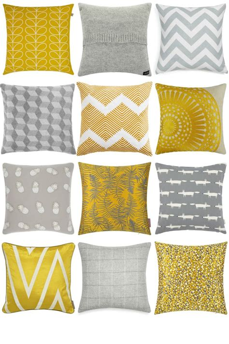 orange cusions best 25 yellow and grey cushions ideas on pinterest