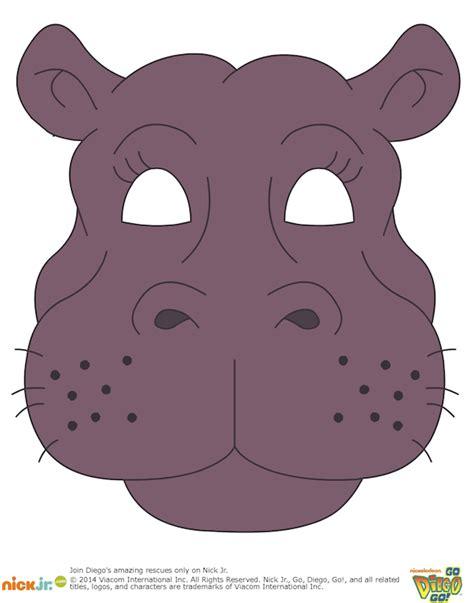 printable hippo mask printable halloween masks