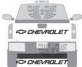 chevy chevrolet 454 ss tailgate decal 1500 2500 ss sticker
