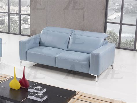 blue italian leather sofa light blue italian full leather sofa shop for affordable