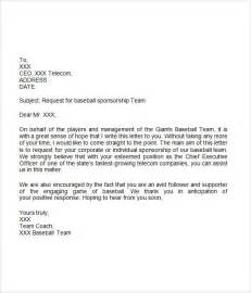Donation Letter Sle For Sports Team Sponsorship Letter 7 Free For Word
