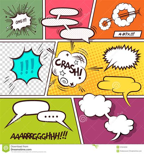 comic speech bubbles stock photography image 37844232